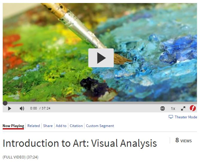 Introduction to Art: Visual Analysis video via Films on Demand